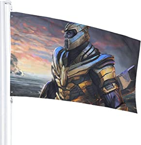 YEECUSTOM Avenger Thanos Flag 3x5 Feet Flags with Grommets Outdoor Printing Flags Quality 3x5 Feets Decoration Outdoor Stars and Stripes Banner