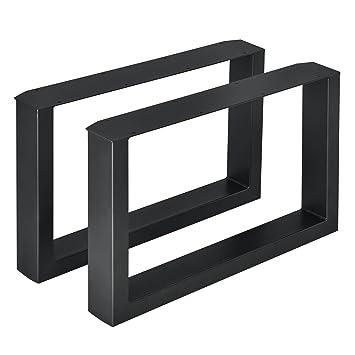 Merveilleux CASA] Set De 2 Pieds De Table Pied De Meuble Rectangulaire Pied