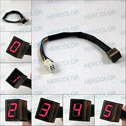 Universal Digital Gear Indicator For Motorcycle Red Amazon Ca