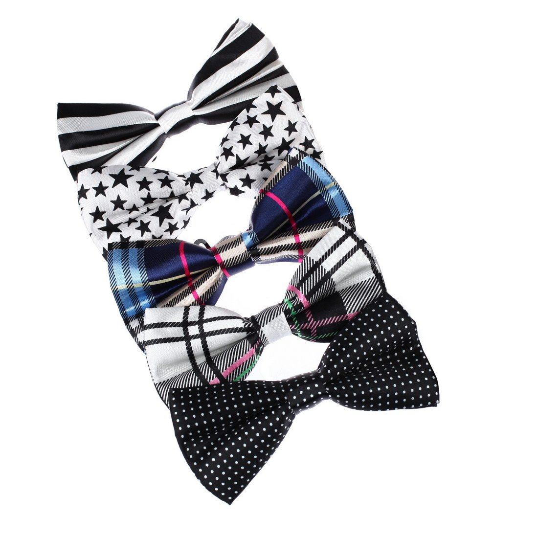 DBF0101 Fashion Mens Bow Ties for Xmas Day 5 Package Gift Set Dan Smith