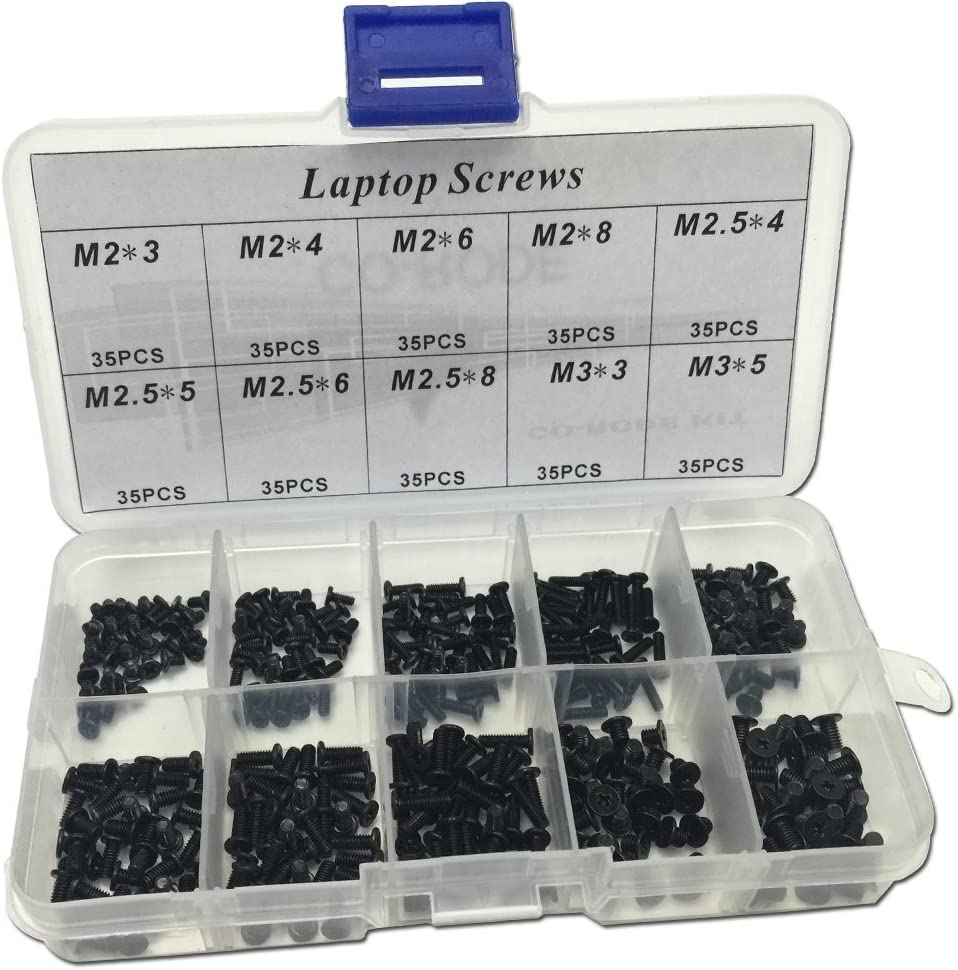 CO RODE 350 Pieces Laptop Screws, Notebook Computer Screw Kit Set for IBM HP Dell Lenovo Samsung Sony Toshiba Gateway