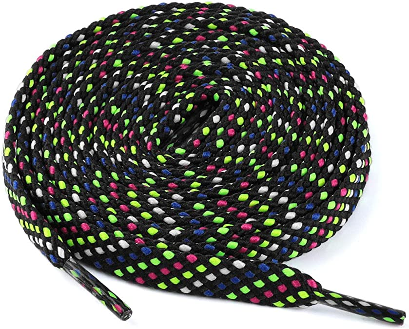 3 Paar Doppelschicht-Flachpolka Dot-Hohlschnürsenkel für Turnschuhe