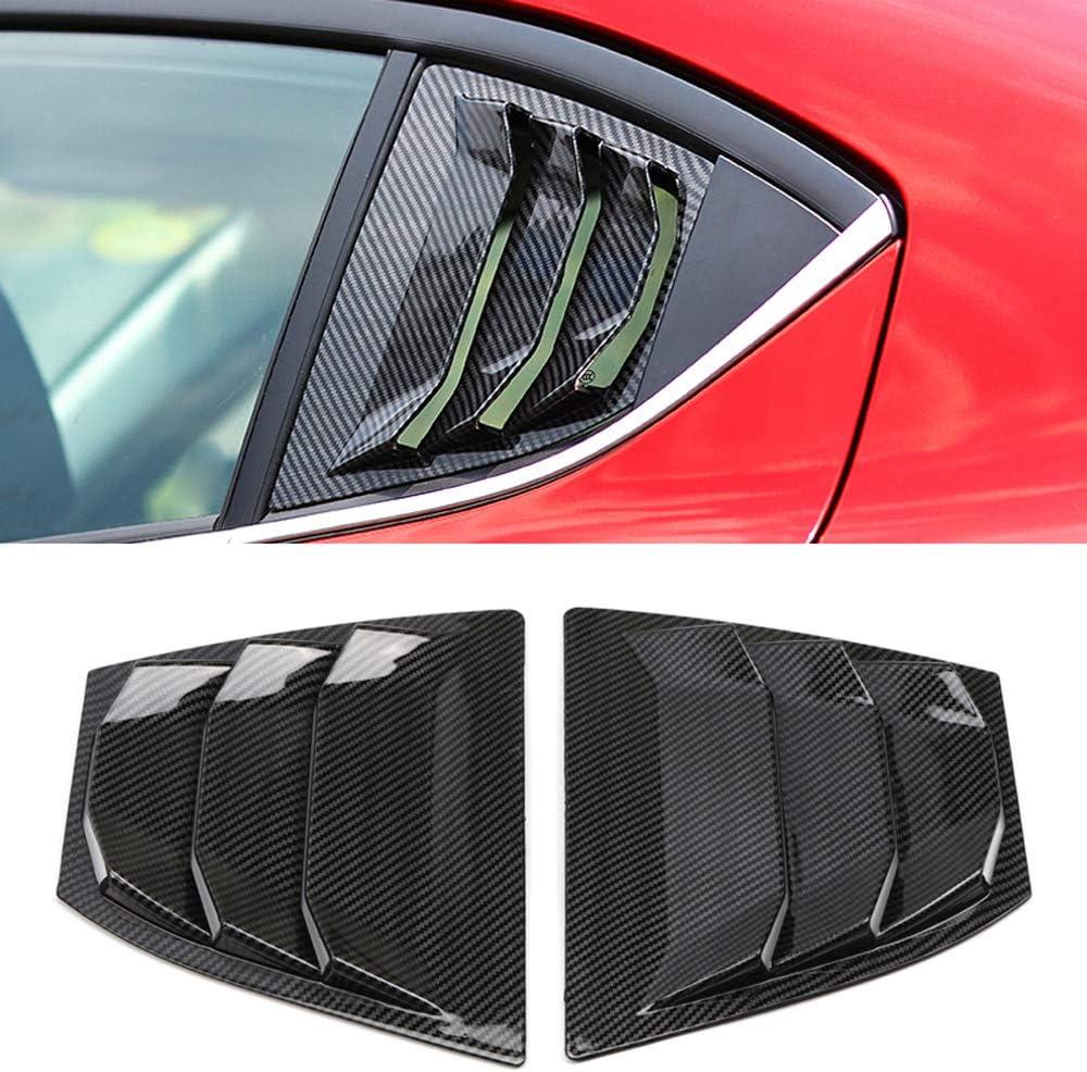 2x For MAZDA 3 Axela 2017 18 Carbon Fiber Front Door Stereo Speaker Cover Trim c