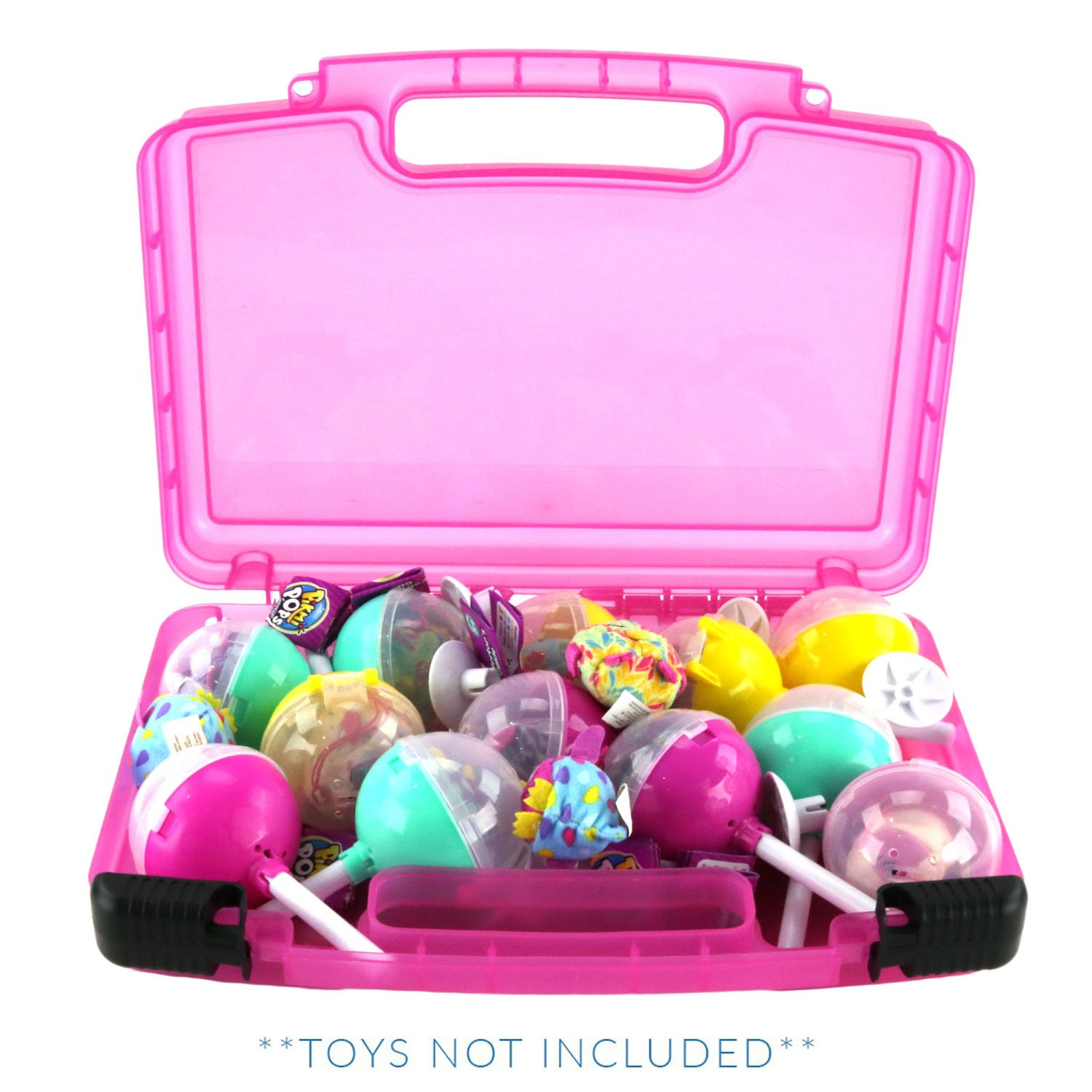 Pikmi Pops Case, Toy Storage Carrying Box. Figures Playset Organizer. Accessories for Kids by LMB Life Made Better
