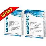 Memoptic - Memoptic Complement alimentaire Densmore - Ginkgo biloba - Choline - Magnesium - Vitamine B5 et Zinc - Lot de 2 Boites de 30 Comprimés