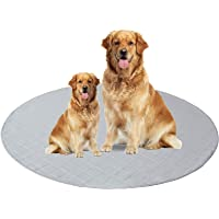 """Round Pee Pads Washable 36"""" x 36"""", Reusable Pee Pads for Dogs, Non-Slip Dogs Training Pads, Waterproof Whelping Mats for…"""