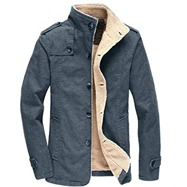 Amazon.com: YKARITIANNA Mens Gental Button Down Jackets ...