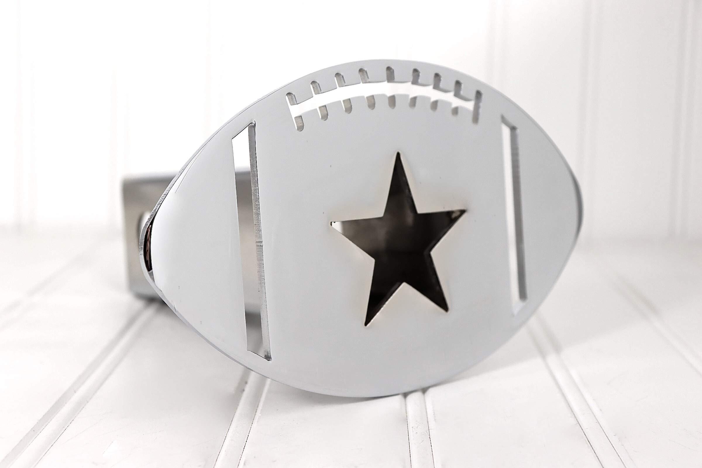 Custom Hitch Covers 12037-Chrome Dallas Cowboys Football Star Hitch Cover by Custom Hitch Covers