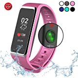 MyKronoz ZeFit3HR - Activity Tracker with Color Touchscreen, Smart Notifications and Heart Rate Monitor (Silver/Pink)