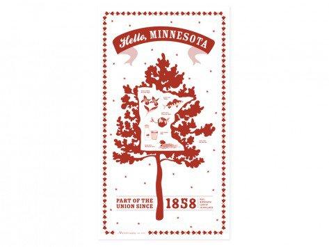 State Tea Towels by Vestiges