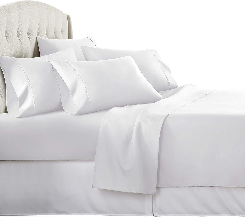 Danjor Linens 6 Piece Hotel Luxury Soft 1800 Series Premium Bed Sheets Set, Deep Pockets, Hypoallergenic, Wrinkle & Fade Resistant Bedding Set(King, White): Home & Kitchen
