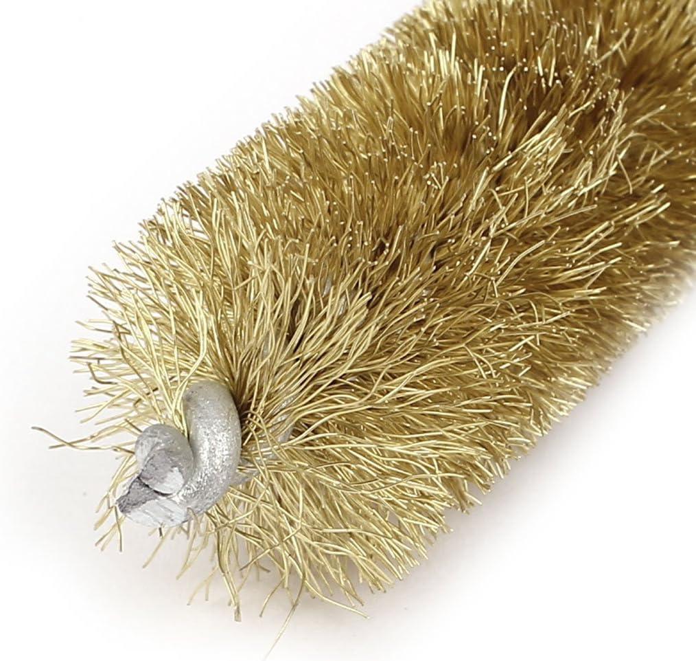 16 cm Longitud 20 mm Di/ámetro espiral trenzado de alambre de lat/ón Tubo cepillo de limpieza