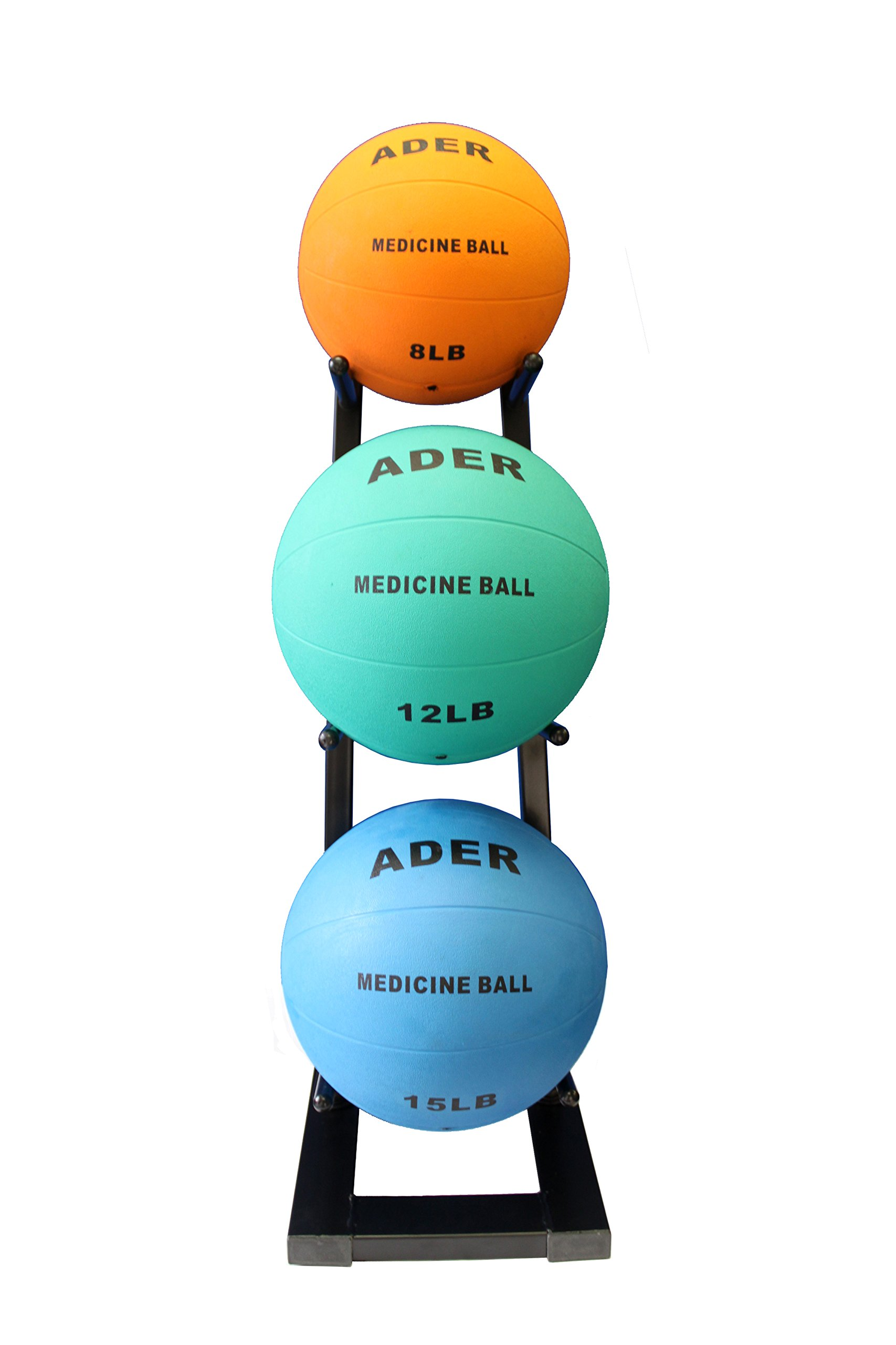 Ader Medicine Ball Set w/Rack (Rack + 8-12-25 LB Med Balls) by Ader Sporting Goods (Image #4)
