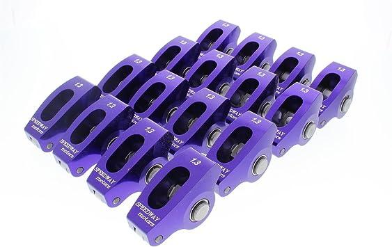 1.3:1 SBC Camshaft Break-In Roller Rocker Arms 3//8 Stud