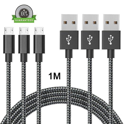 134 opinioni per Cavo Micro USB ONSON® [ 3-Pezzi 1M ] Nylon Intrecciato Caricabatterie Cavo