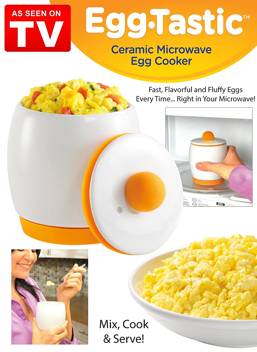 2-Piece Gourmet2day Microwave Egg Cooker with Recipe eBook