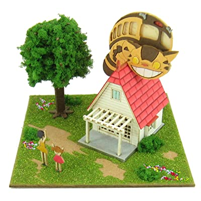 Cat Bus and Studio Ghibli Mini Kusakabe House Mp07-02 (Paper Craft) by Totoro: Toys & Games