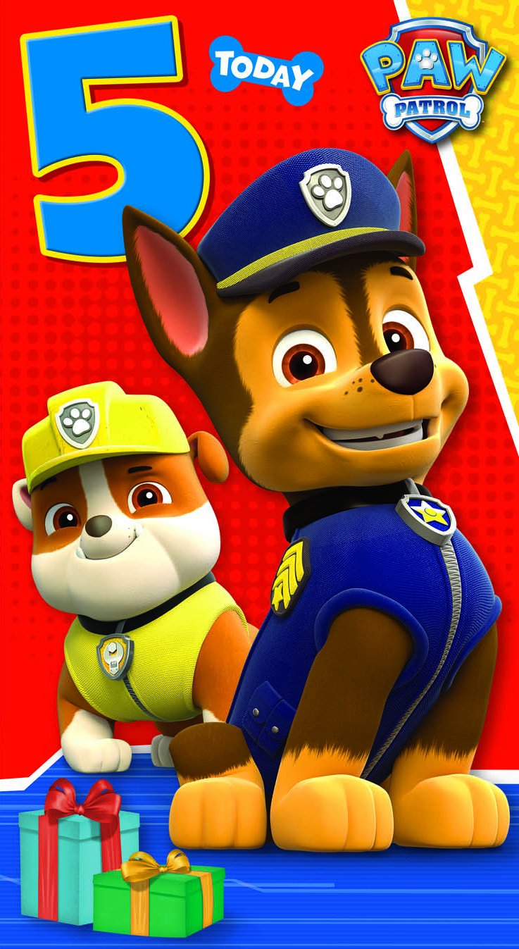 Amazon paw patrol have paw some 5th birthday greeting card amazon paw patrol have paw some 5th birthday greeting card health personal care kristyandbryce Image collections