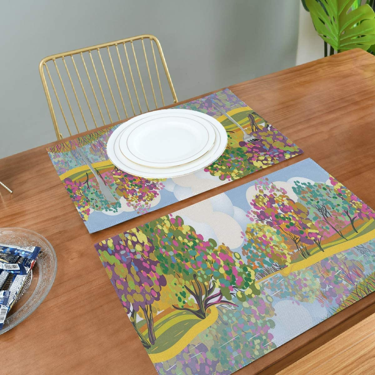 Amazon.com: Jacksome Garden Placemats for Dining Table Placemat