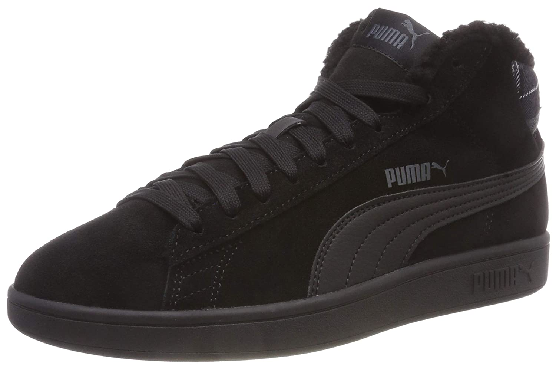 TALLA 43 EU. Puma Smash v2 Mid WTR Unisex Sneaker Black Padded 366810 01