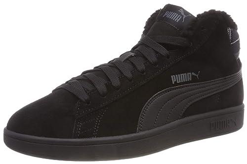new product 3673d 65344 Puma Unisex-Erwachsene Smash V2 MID WTR Sneaker Schwarz Black 01, 36 EU