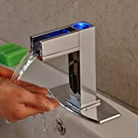 Touchless Bathroom Sink Faucet. Rozin Touchless Led Light Bathroom Sink Faucet Single Cold Water Sensor Tap With 6 Inch