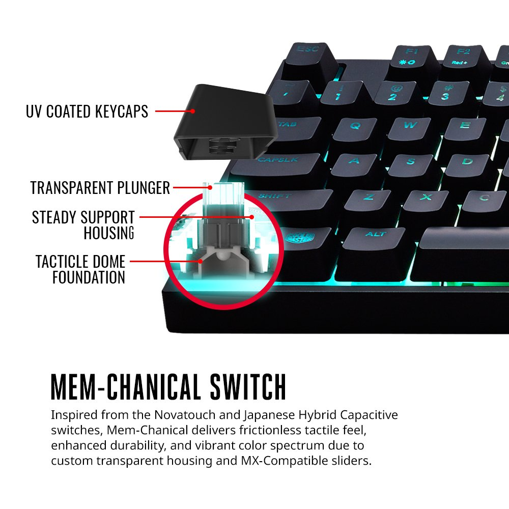 3f073f771b5 Amazon.com: Cooler Master SGB-3040-KKMF1-US MasterKeys Lite L Gaming  Keyboard & Mouse Combo, 6 Zoned RGB LED Backlit, On The Fly: Computers &  Accessories