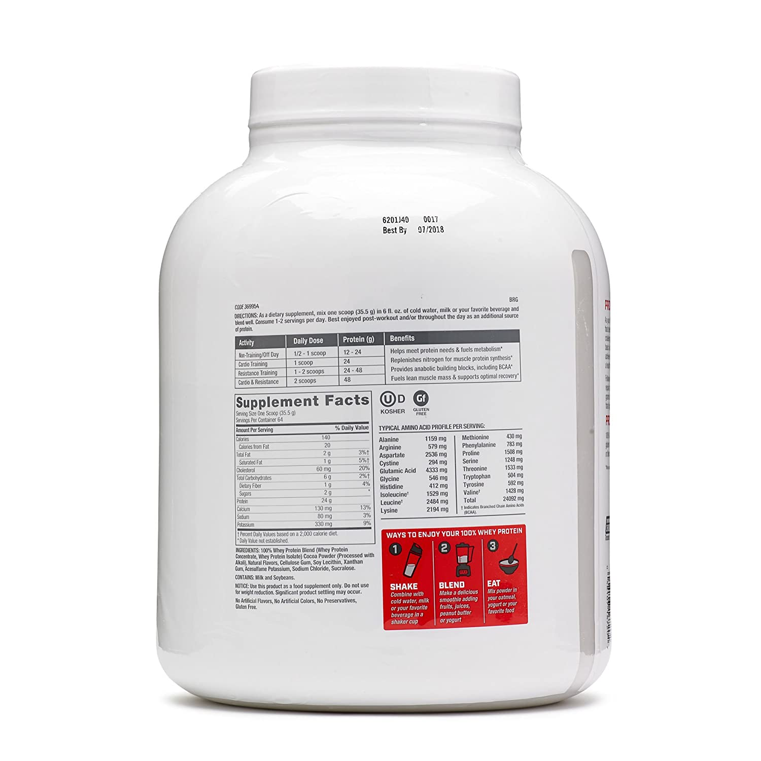 GNC Pro Performance 100 Whey, Chocolate Supreme, 64 Servings, Supports Healthy Metabolism and Lean Muscle Recovery