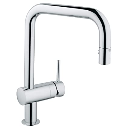 Grohe 32319000 Minta Dual Spray Pull Down Kitchen Faucet, Chrome ...