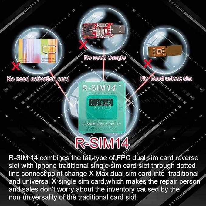 fancyU Tarjeta de Desbloqueo RSIM Nano R-SIM14 Desbloqueo R-SIM14 X Universal para Todos los Modelos R-SIM14 RSIM R-SIM14 X Ultra ICCID