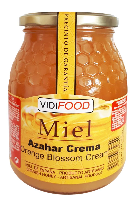 Miel de Azahar Crema - 1kg - Producida en España - Alta Calidad ...