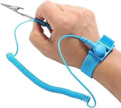 2 Pcs Bracelet Sans Fil De Bande Anti-statique De Bande