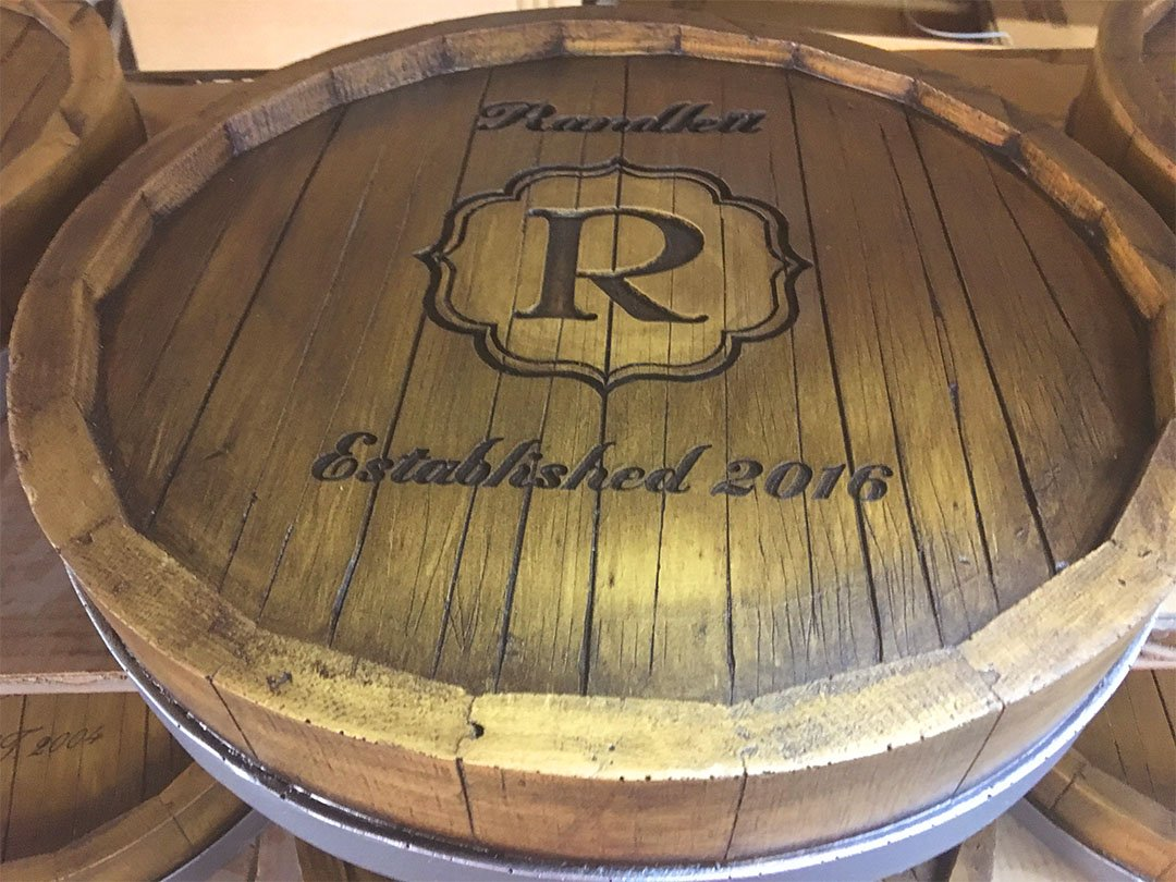 Wine Barrel Monogram and Personalized Lazy Susan by Piazza Pisano (Image #6)
