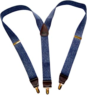 product image for HoldUp Suspender in a Dark Denim color Y-back Suspenders in our Casual Series with No-slip gold-tone Patented Clips