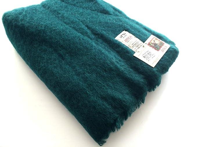 fbbdada26 Dark Green Mohair Throw Blanket by Avoca: Amazon.co.uk: Kitchen & Home
