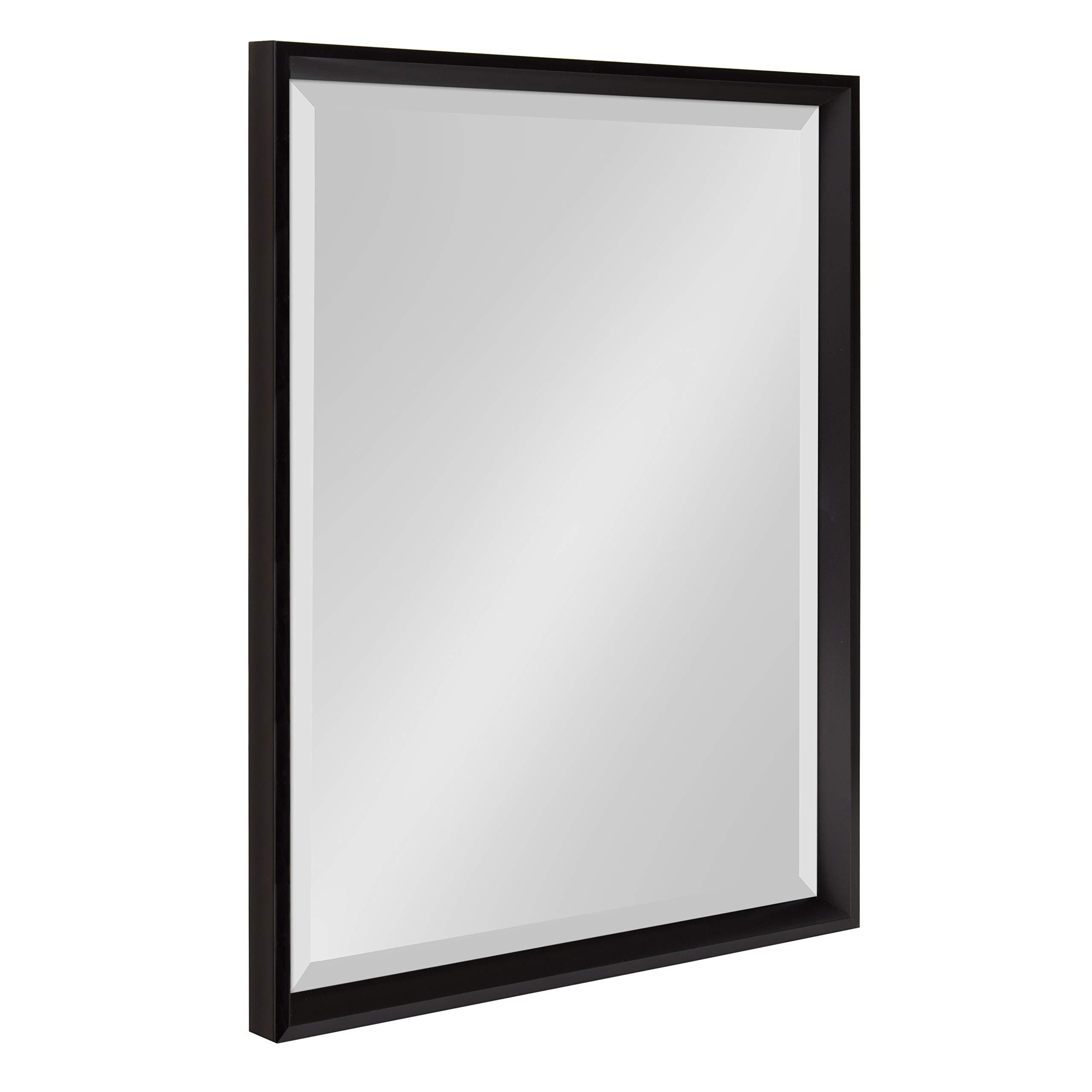 Kate and Laurel Calter Modern Decorative Framed Beveled Wall Mirror, 19.5x25.5 Black