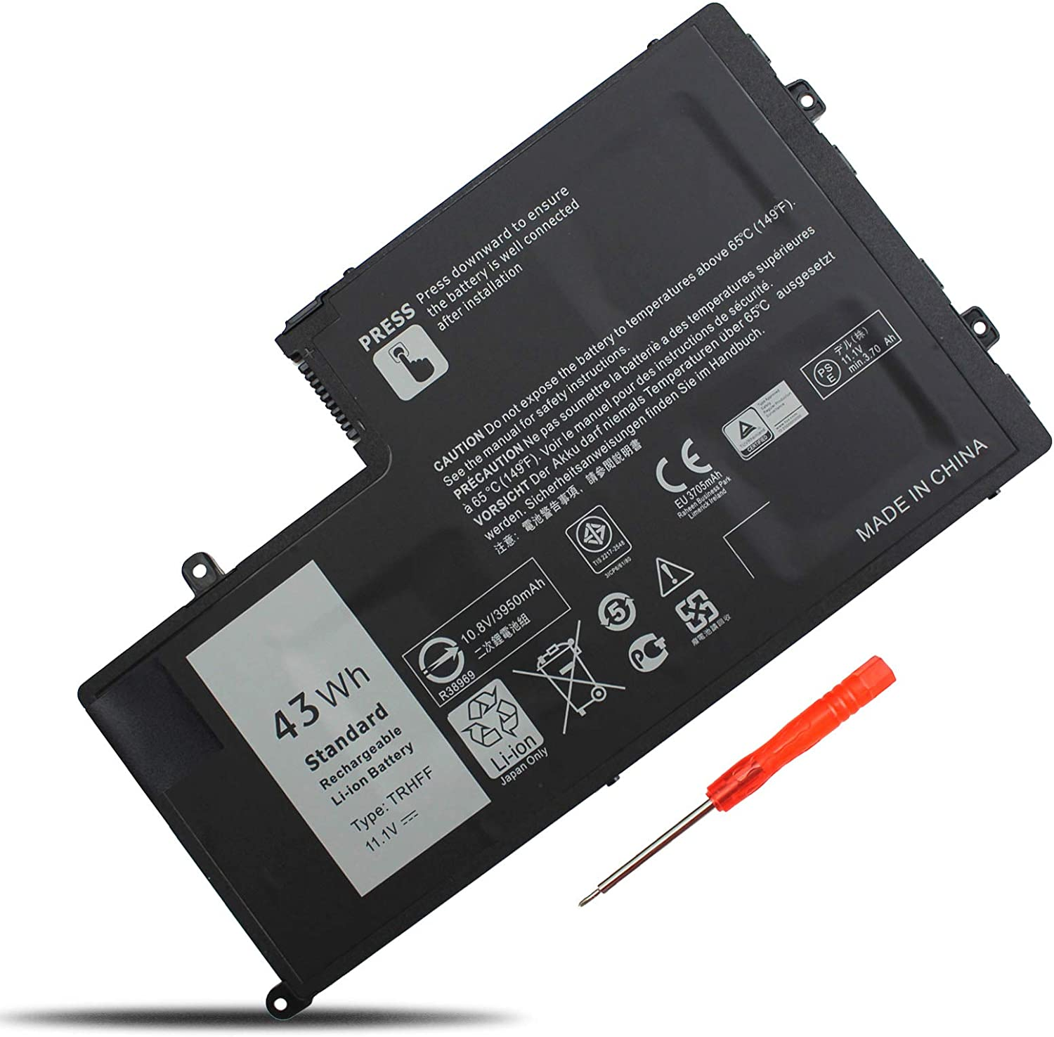 LXHY TRHFF 11.1V 43Wh 7600mAh Laptop Battery Compatible with Dell Inspiron 5447 5448 15-5548 14-5447 14-5448 15-5542 N5447 N5547 Latitude 3450 3550 15 3550 Replacement P39F 1V2F6 01v2f6 0PD19