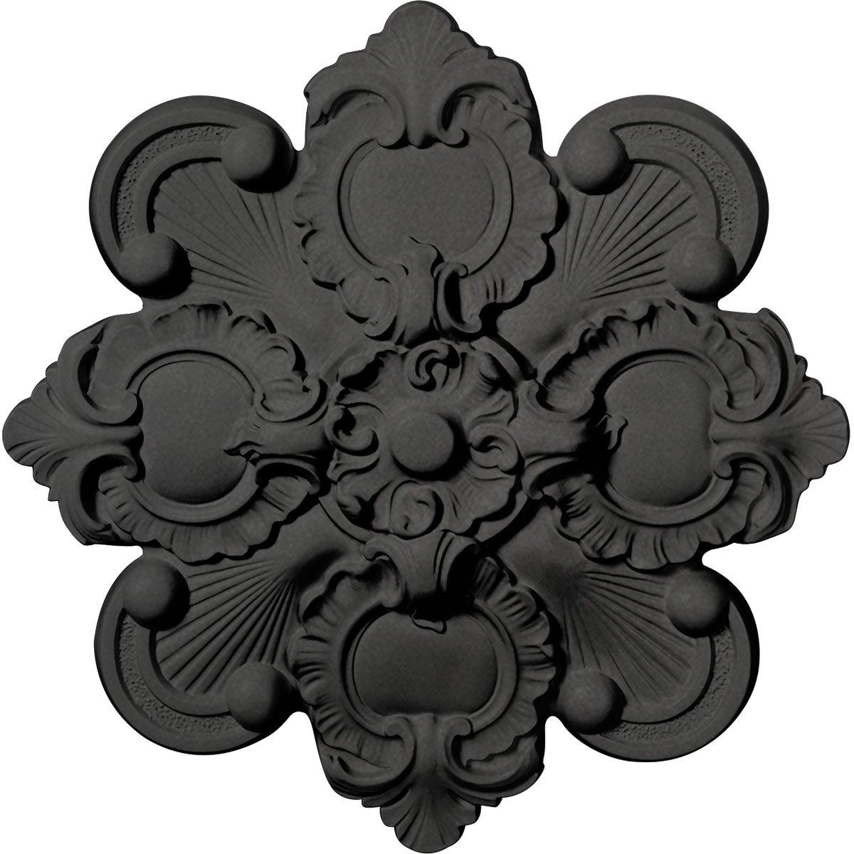 Ekena Millwork CM18KASGS Katheryn Ceiling Medallion, Steel Gray