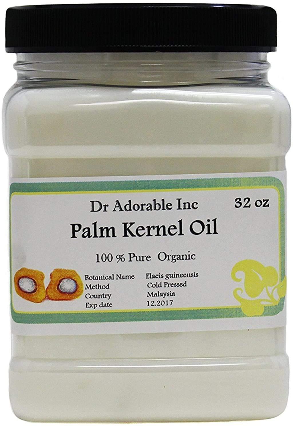 Palm Kernel Oil Pure Cold Pressed Organic 32 Oz / 1 Quart