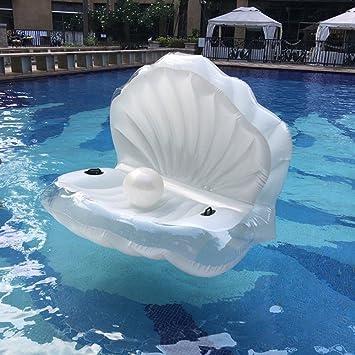Piscina gigante Shell manejable inflable flotador juguete balsa sirena mar Shell piscina inflable flotador: Amazon.es: Juguetes y juegos