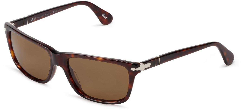 4b99cf5c63 Persol Men s 3026 Tortoise Frame Brown Polarized Lens Plastic Sunglasses