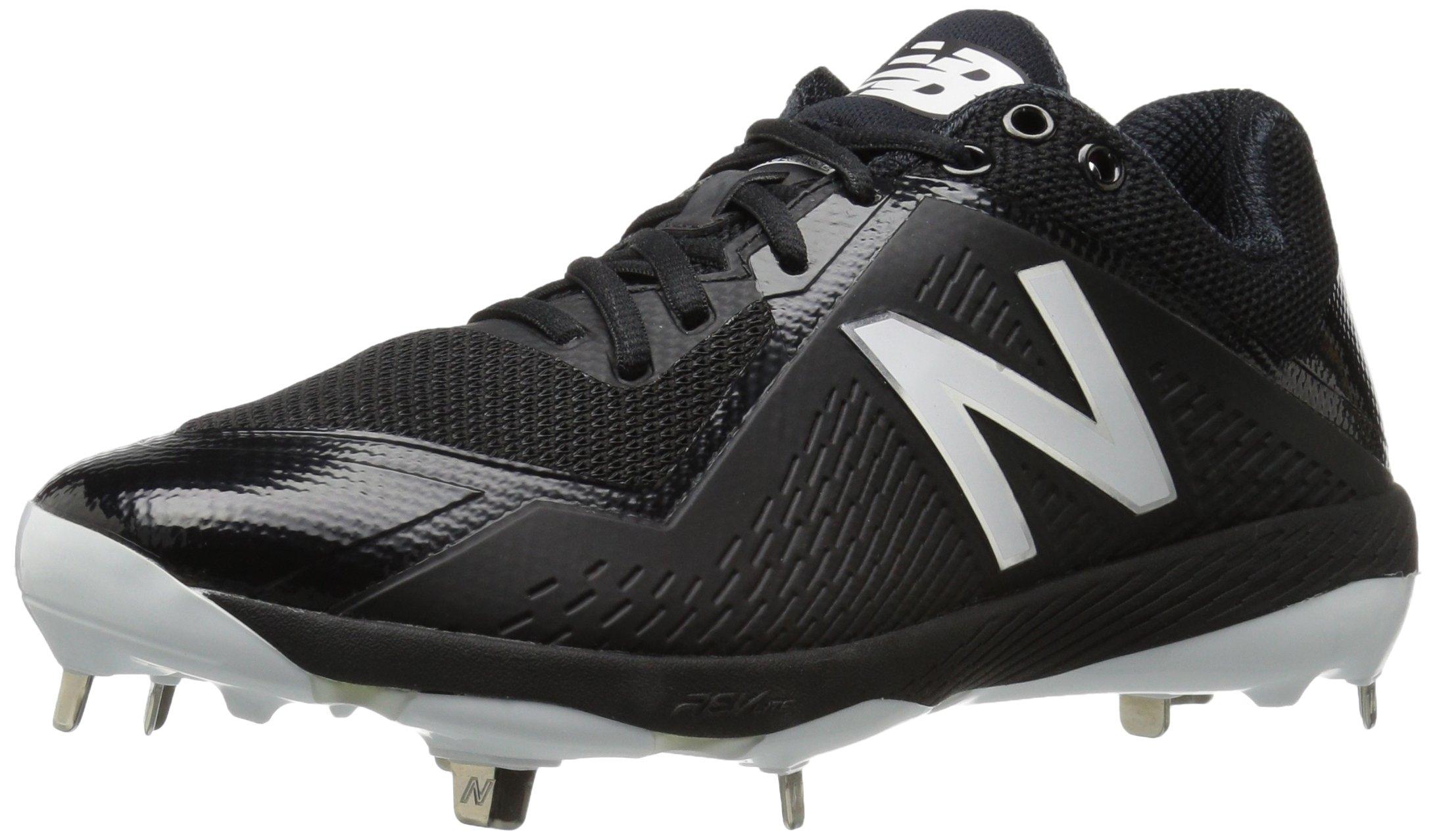 New Balance Men's L4040v4 Metal Baseball Shoe, Black, 11.5 D US by New Balance