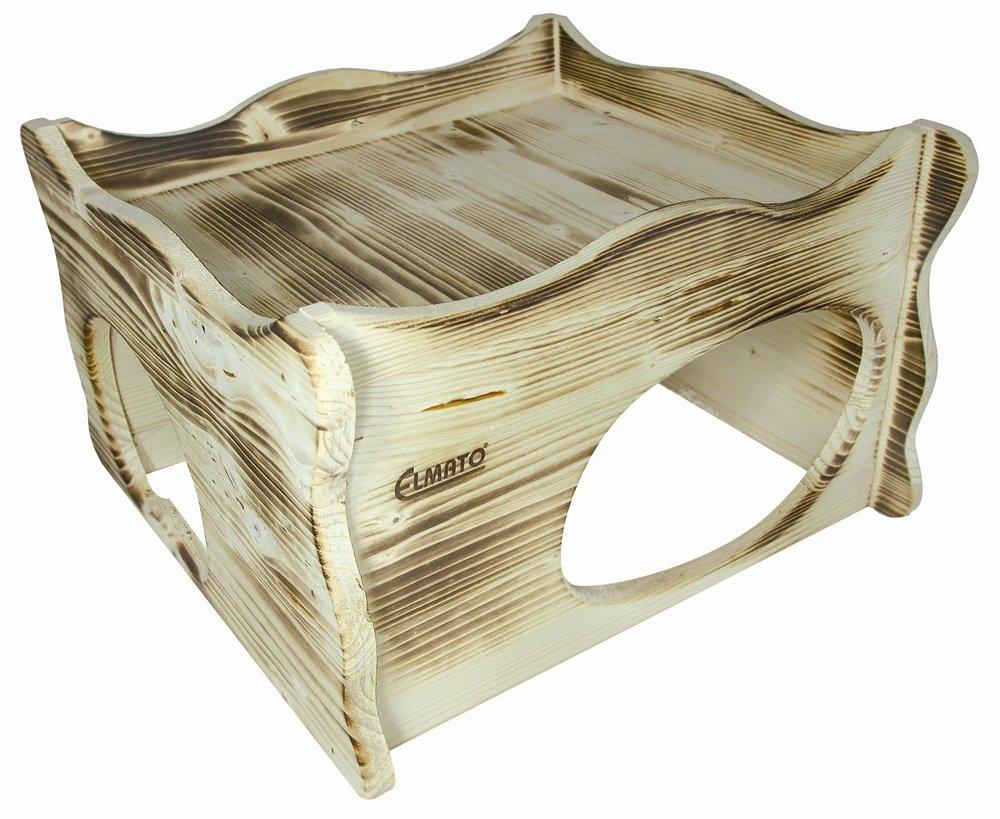 Elmato 12921 Softline Maison pour rongeurs en bois flammé Taille XL