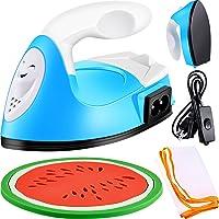 Mini Heat Press Machine Mini Iron Heat Transfer Machine Portable Heat Press Machine with Mesh Cloth Pressing Cloth Pad…