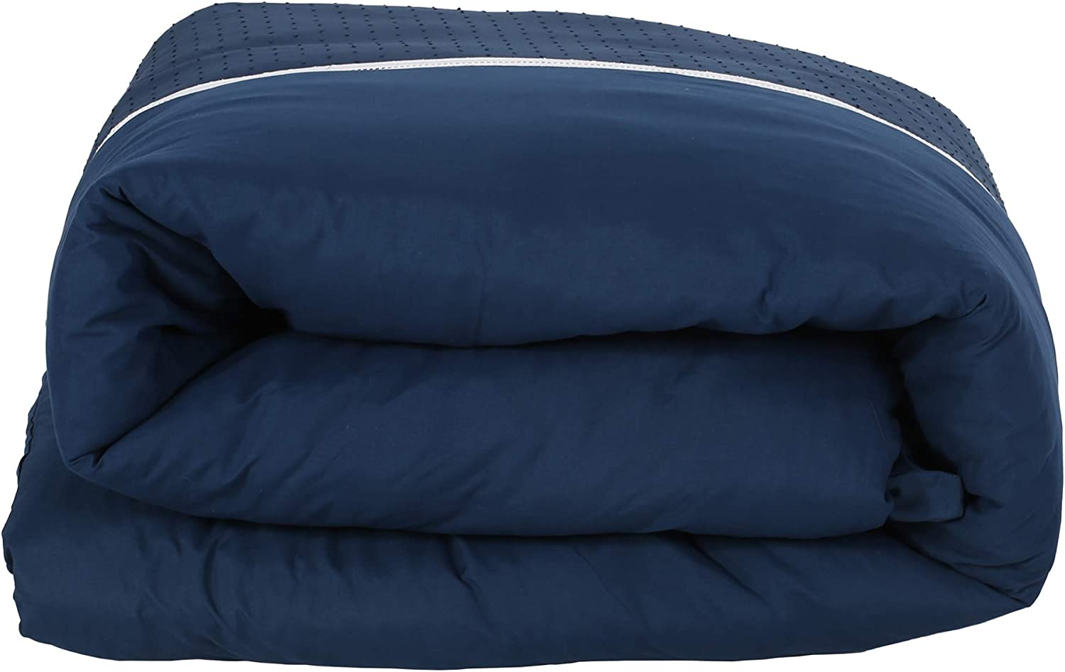 Navy Christopher Knight Home 309039 Louise Queen Size Fabric Duvet