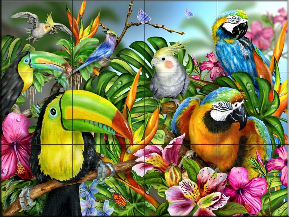 par Lori Schory Oiseaux dune plume 2 Cuisine dosseret//bains douche Fresque murale en carrelage
