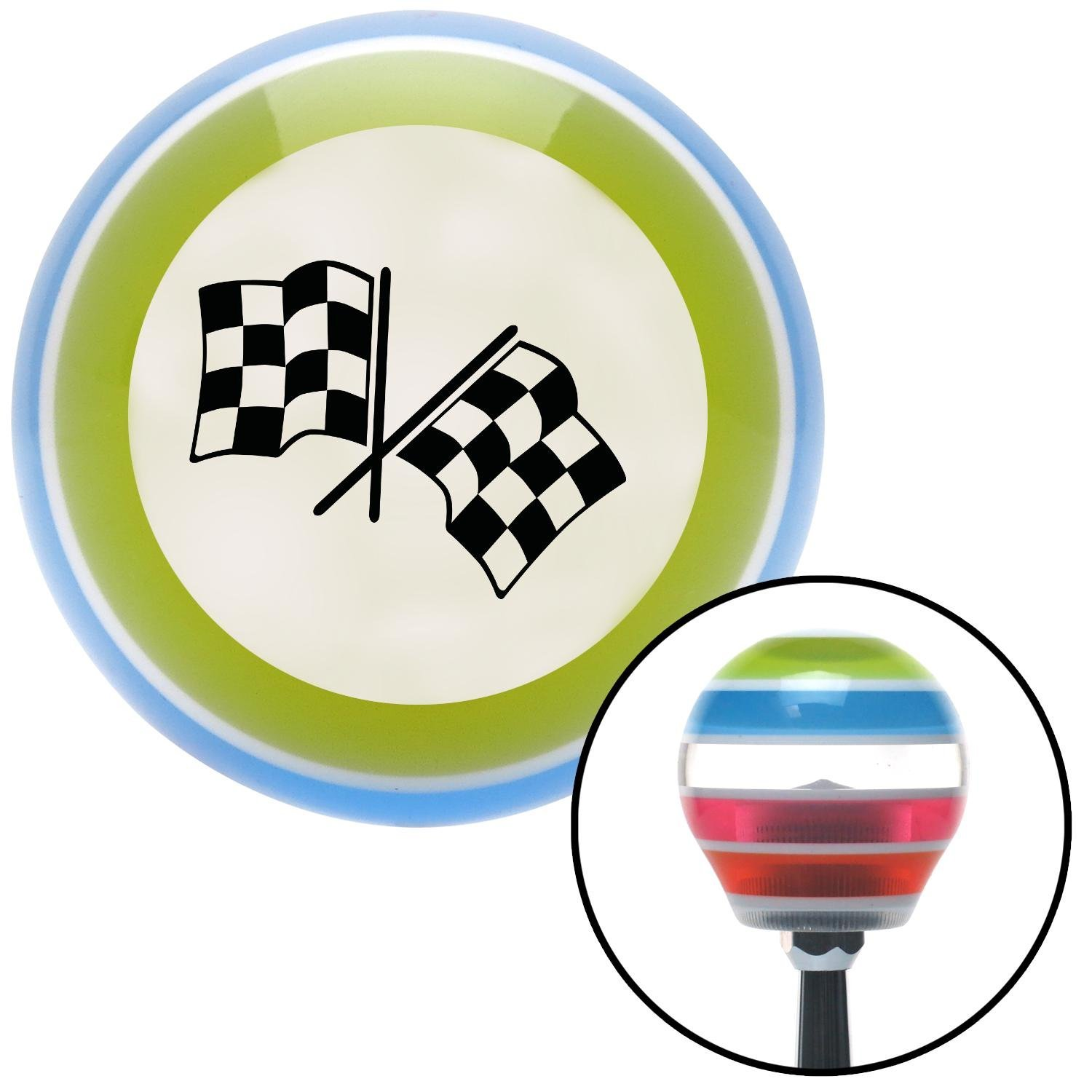 Black Checkered Flags American Shifter 135962 Stripe Shift Knob with M16 x 1.5 Insert