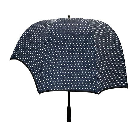Y&S Sombrillas de golf, personalidad doble grande a prueba de viento reverso transparente en forma