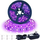 Ontesik 20ft LED Black Light Strip kit, 360 LEDs, 12V Flexible UV Black Light Installation, Family Bedroom, Party…