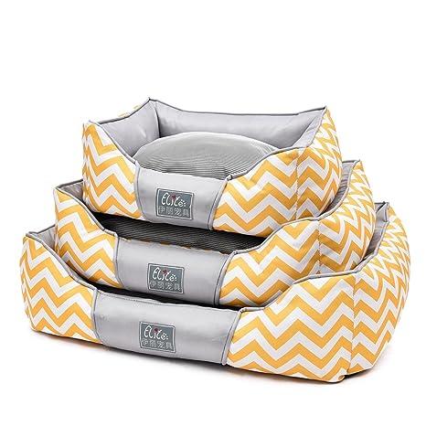 Hu Bohemian - Cama de seda de hielo para mascotas, cama de verano, con
